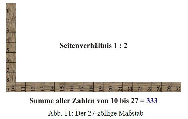 Saturn-Siegel oder Marien-Monogramm?  Klitzke-27-zoll-massstab