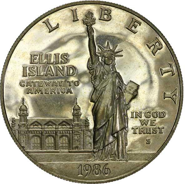 Lady (?) Liberty 1-dollar-Gedenkmuenze