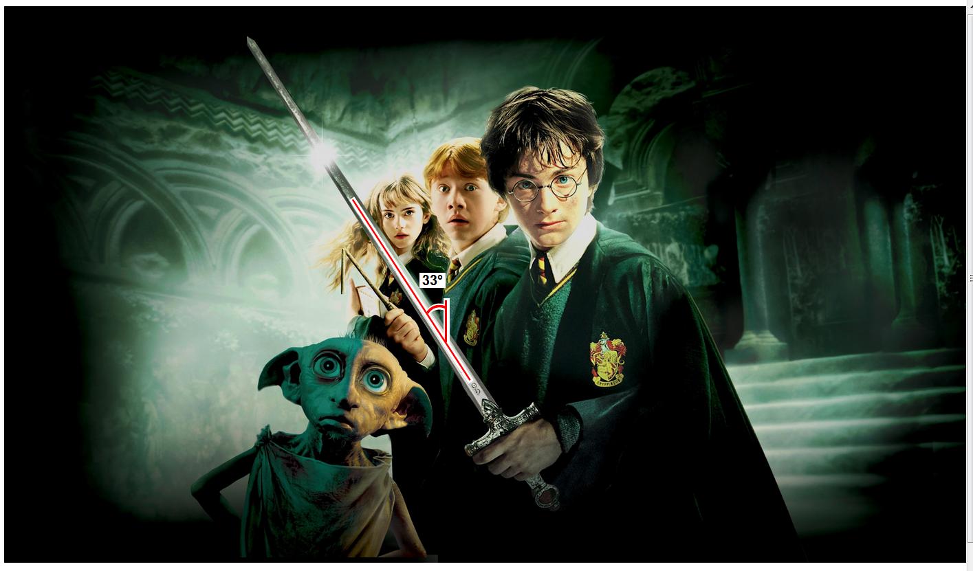 Harry Potter Schwert-33-grad-winkel