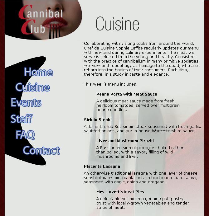 Kannibalismus - Paradigmen-Wechsel im Mainstream? - Seite 2 Cuisine