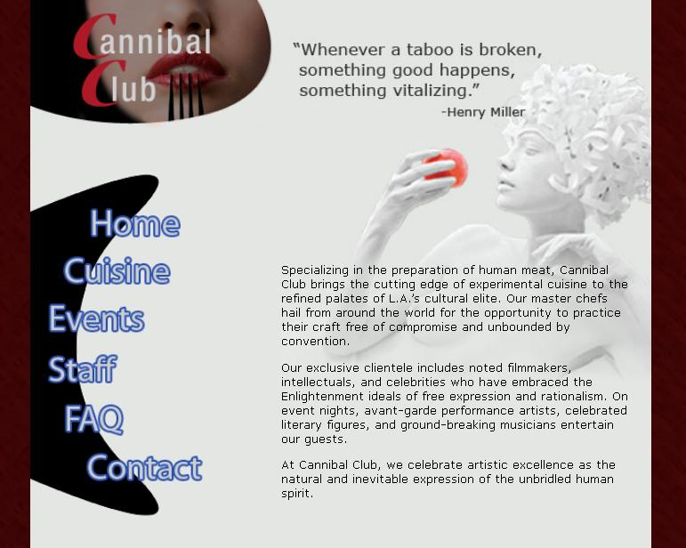 Kannibalismus - Paradigmen-Wechsel im Mainstream? - Seite 2 Startseite