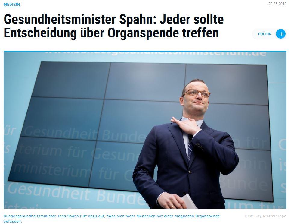 Organspende / Transplantation Augsburger-allgemeine-de-28-5-18