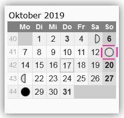 Mond-Symbolik Mondkal-oktober