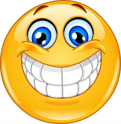 Sechs Millionen Big-smile-emoticon